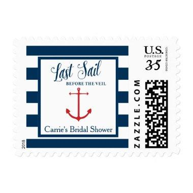 Last Sail before the Veil Bridal Postage Stamps