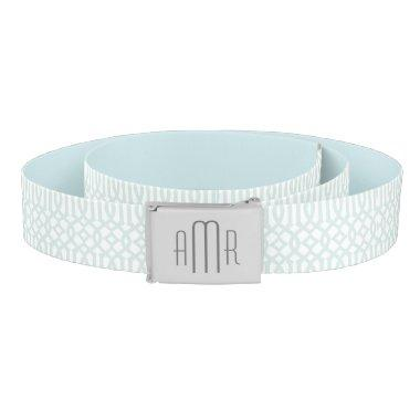 Lattice Pattern Monogram Belt