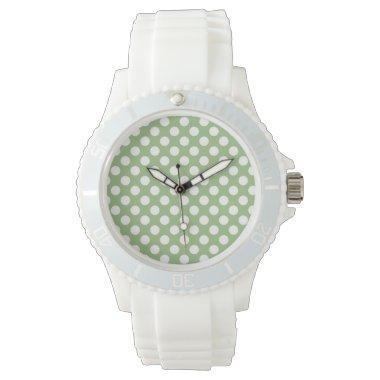 Laurel Green Polka Dots Watch