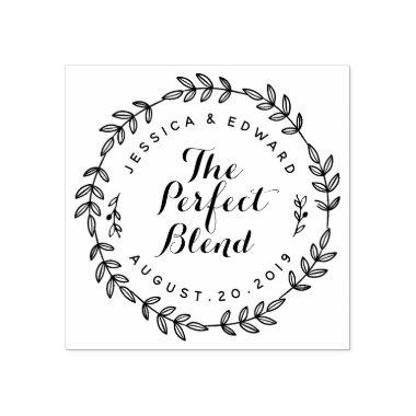 Laurel Wreath Perfect Blend Wedding Favor Stamp