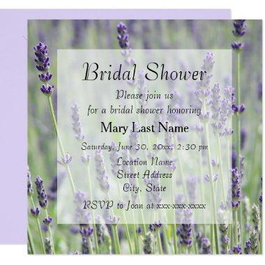 Lavender Blooms Floral Bridal Shower Invite