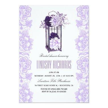Lavender Purple Flowers Lantern