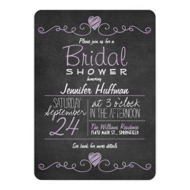 Lavender Purple & White; Chalkboard