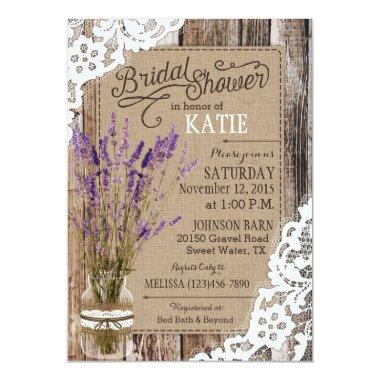 Lavender Wood Lace Rustic