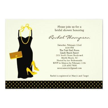LBD Bridal Shower Invitations
