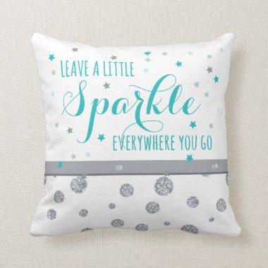 Leave Sparkle Throw Pillow