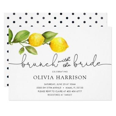 Lemon Brunch with the Bride Shower Invitations