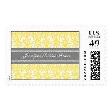 Lemon Damask  Wedding Stamps