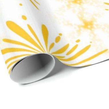Lemon Yellow Print Wrapping Paper