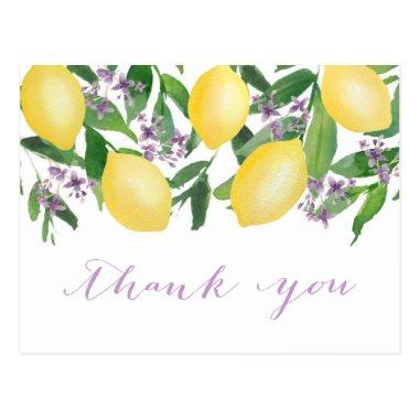Lemons Lavender Bridal Shower Thank You PostInvitations