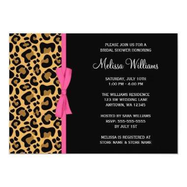 Leopard Pattern Pink Printed Ribbon