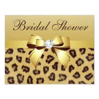 Leopard Print, Bow & Diamond