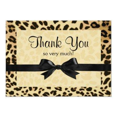 Leopard Print Bow Thank You Note