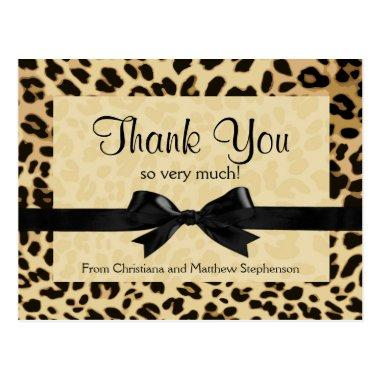 Leopard Print Bow Thank You Note PostInvitations