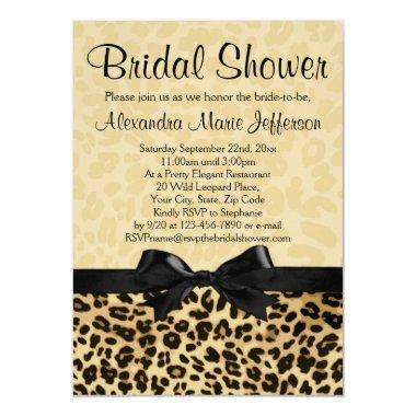 Leopard Print Bridal Shower Invitations