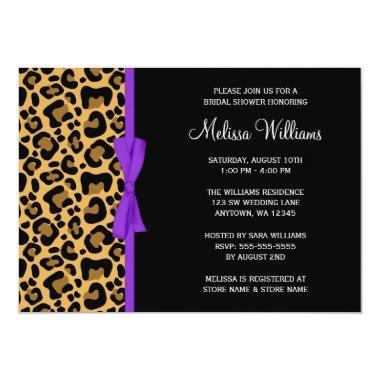 Leopard Purple Printed Ribbon