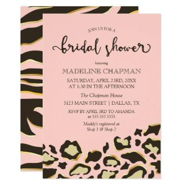 Leopard Spots & Tiger Stripes Bridal Shower Invitations
