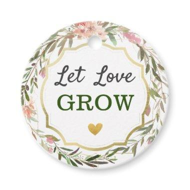 Let Love Grow Wedding Bridal Shower Cacti Seed Pot Favor Tags