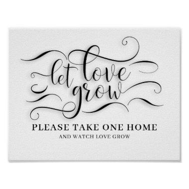 Let Love Grow Wedding Sign