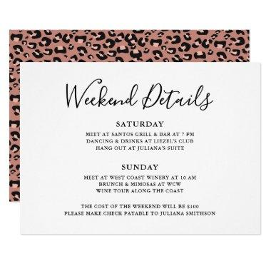 Let's Get Wild Weekend Detail Leopard Bachelorette Invitations