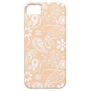 Light Apricot Paisley; Floral iPhone SE/5/5s Case