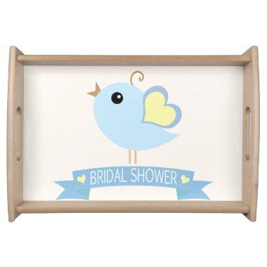 Light Blue and Yellow Love Bird;  Serving Tray