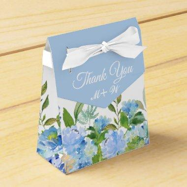 Light Blue Hydrangea Floral Gift Wedding Favor Box