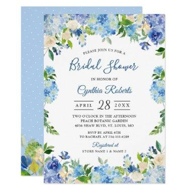 Light Blue Hydrangeas Floral Wreath
