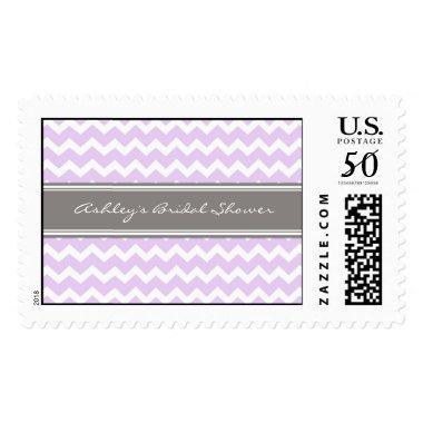 Lilac Chevron  Wedding Stamps