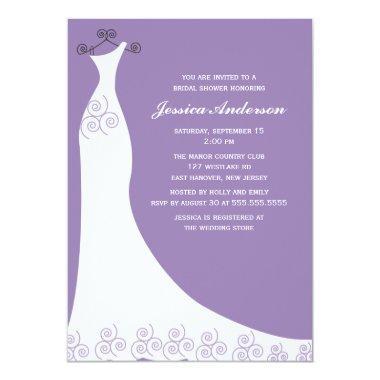 Lilac Wedding Gown