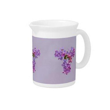 Lilacs in Springtime Pitcher