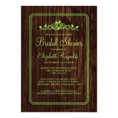 Lime Green Vintage Barn Wood  Invites
