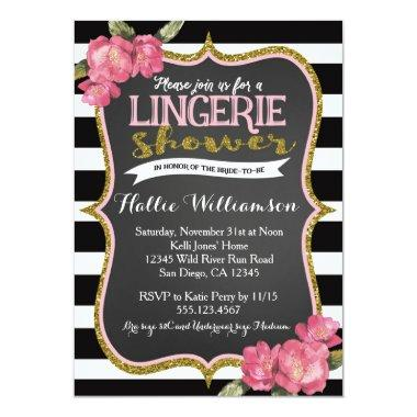 Lingerie Bridal Shower Invitations