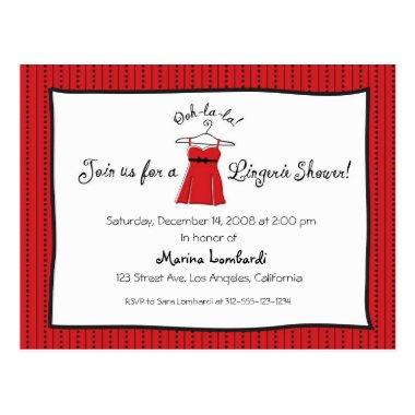 Lingerie Shower Invitation Post