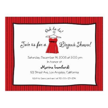 Lingerie Shower Invitation Post
