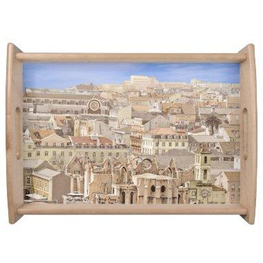 LISBON FROM THE CASTLE (PORTUGAL) Serving Tray
