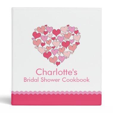 Lots of Hearts  Recipe Cookbook Binder