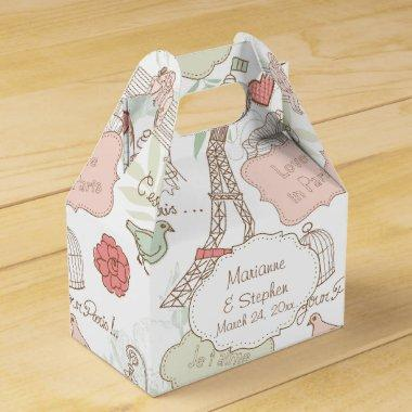Love Birds Bird Cage Lovers in Paris Eiffel Tower Favor Box