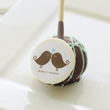 Love Birds {mint} Wedding Cake Pops