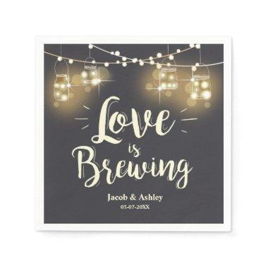 Love is brewing bbq rehearsal bridal shower Napkin