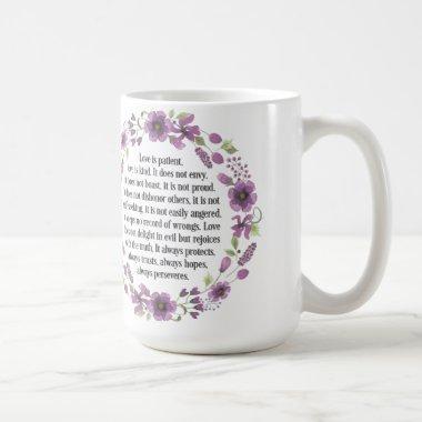 Love is Patient Wedding Bible Love Quote Mug