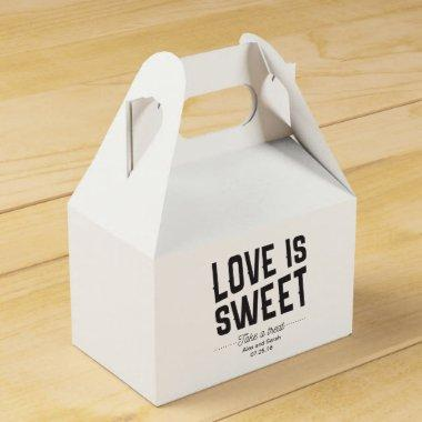 Love is sweet box for candy buffet wedding