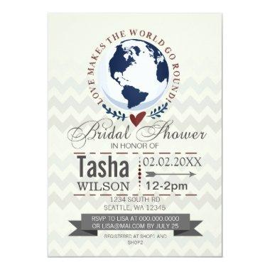 Love Makes The World Go Round  Invite