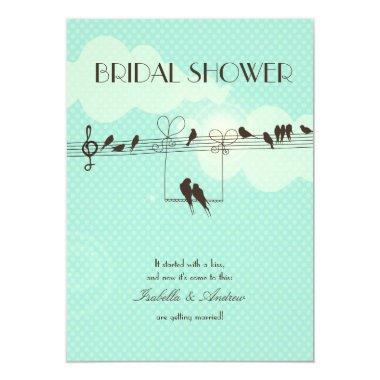Love Music bridal shower Invitations