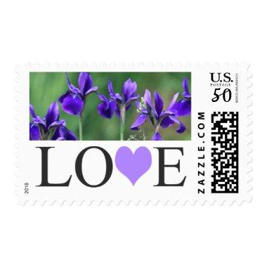 Love Purple Wedding  Postage Stamps