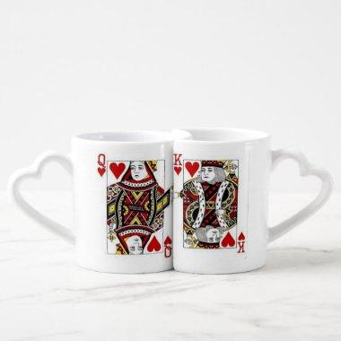 Love Queen and King of Hearts Mugs