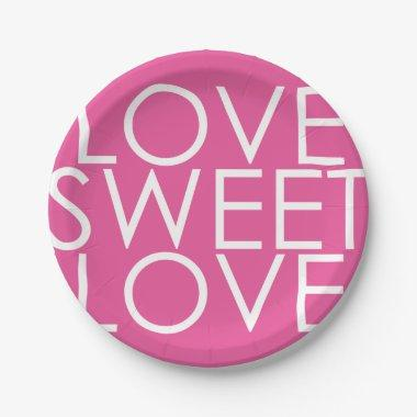 Love sweet love paper plate for bridal shower