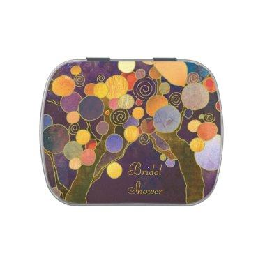 LOVE TREES Purple Bridal Shower Favor Candy Tin