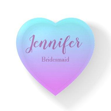 Lovely Bridesmaid Heart Shaped Ombre Paperweight