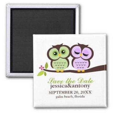 Lovely Owls Save the Date Magnet